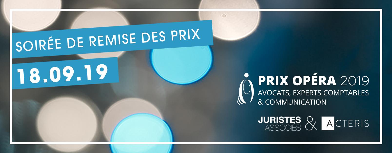 PRIX OPERA 2019 - remise des prix